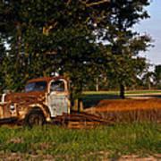 Rusty Truck And Tank Print by Douglas Barnett