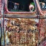 Rusty Truck Door Art Print