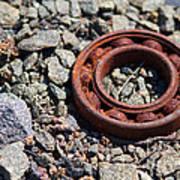 Rusty Wheel Bearing Art Print