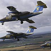Saab 105 Jet Trainers Of The Swedish Art Print