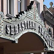 Sabastiani Theatre - Downtown Sonoma California - 5d19288 Art Print