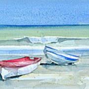 Sabinillas Fishing Boats Art Print