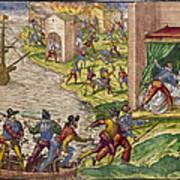 Sack Of Cartagena, C1544 Art Print
