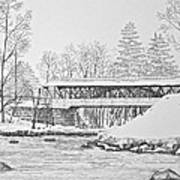 Saco River Bridge Art Print