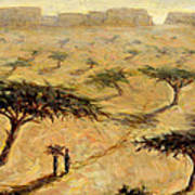 Sahelian Landscape Art Print by Tilly Willis