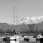 Sailboats At Utah Lake State Park Art Print by Tracie Kaska