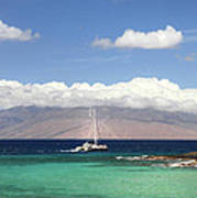 Sailing And Diving Maui Art Print