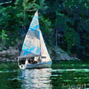 Sailing Cave Run Lake Art Print