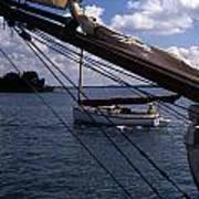 Sailing Coastal Maine Art Print
