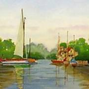 Sailing To The Harbour Art Print