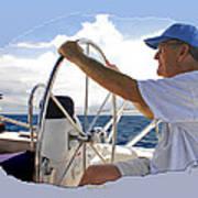 Sailing With Capt. Tom Art Print