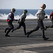 Sailors Clear The Landing Area Art Print