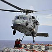 Sailors Hook An Ammunition Pallet To An Art Print