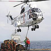 Sailors Hook Up A Pole Pendant Art Print by Stocktrek Images