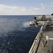 Sailors Observe A Mk-46 Recoverable Art Print