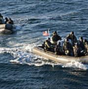 Sailors Participate In A Visit, Board Art Print