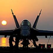 Sailors Prepare An Fa-18c Hornet Art Print