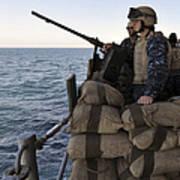 Sailors Stand Small Caliber Attack Team Art Print