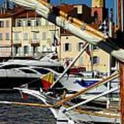 Saint Tropez Harbor Art Print