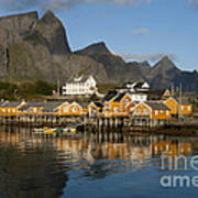 Sakrisoy Fishermen's Village Art Print