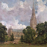 Salisbury Cathedral From The South West Art Print