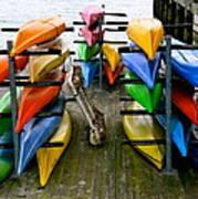 Salma Kayaks Art Print