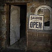 Saloon Open Art Print