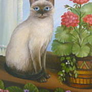 Samantha The Siamese Cat Art Print