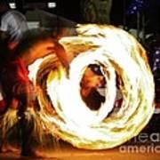 Samoan Fire Dancer Art Print