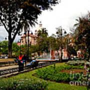 San Blas Park In Cuenca Ecuador Art Print