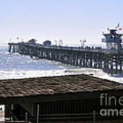 San Clemente Pier California Art Print by Clayton Bruster