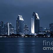 San Diego At Night Art Print by Paul Velgos