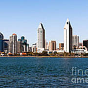 San Diego City Skyline Art Print