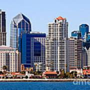 San Diego Skyline Photo Art Print by Paul Velgos