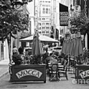 San Francisco - Maiden Lane - Outdoor Lunch At Mocca Cafe - 5d17932 - Black And White Art Print