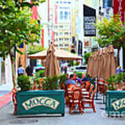 San Francisco - Maiden Lane - Outdoor Lunch At Mocca Cafe - 5d17932 - Painterly Art Print