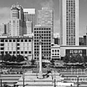 San Francisco - Union Square - 5d17938 - Black And White Print by Wingsdomain Art and Photography