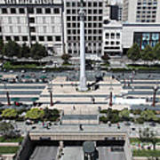 San Francisco - Union Square - 5d17942 Print by Wingsdomain Art and Photography