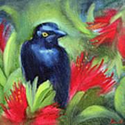 San Francisco Black Bird Art Print