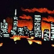 San Francisco Black Light Art Print