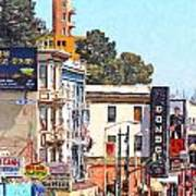 San Francisco Broadway Art Print by Wingsdomain Art and Photography