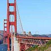 San Francisco Golden Gate Bridge . 7d8157 Print by Wingsdomain Art and Photography