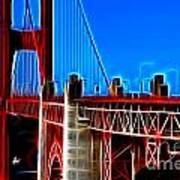 San Francisco Golden Gate Bridge Electrified Art Print