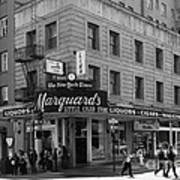 San Francisco Marquards Little Cigar Store Powell Street - 5d17950 - Black And White Art Print by Wingsdomain Art and Photography