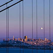 San Francisco Moon Art Print