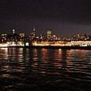 San Francisco Night View From The Ocean Art Print