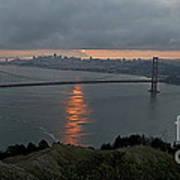 San Francisco On Cloudy Sunrise Print by Matt Tilghman