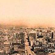 San Francisco Skyline 1909 . Ferry Building And Alcatraz Print by Wingsdomain Art and Photography