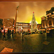 San Francisco Union Square Xmas Art Print