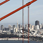 San Francisco Through The Cables Art Print